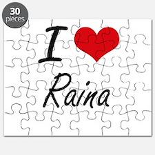 I Love Raina artistic design Puzzle