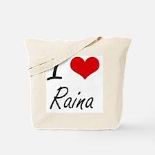 I Love Raina artistic design Tote Bag