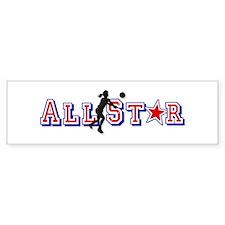 All Star Volleyball Bumper Bumper Sticker
