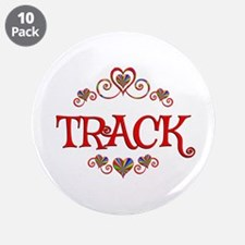 """Track Hearts 3.5"""" Button (10 pack)"""