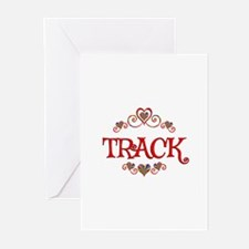 Track Hearts Greeting Cards (Pk of 20)