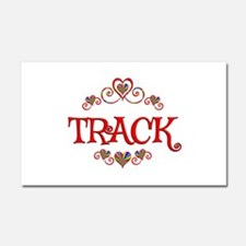 Track Hearts Car Magnet 20 x 12