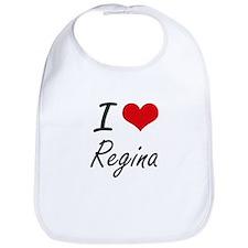 I Love Regina artistic design Bib