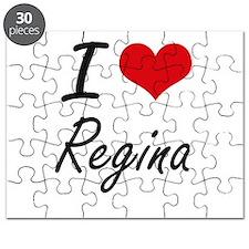 I Love Regina artistic design Puzzle