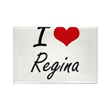 I Love Regina artistic design Magnets