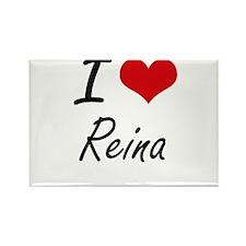I Love Reina artistic design Magnets