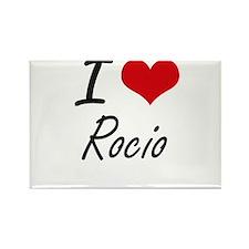 I Love Rocio artistic design Magnets