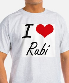 I Love Rubi artistic design T-Shirt