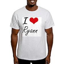 I Love Ryann artistic design T-Shirt