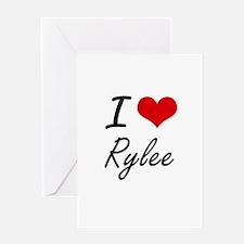 I Love Rylee artistic design Greeting Cards