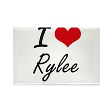 I Love Rylee artistic design Magnets