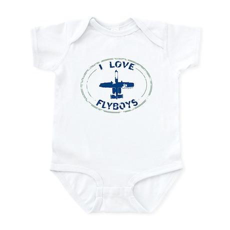I Love Flyboys -navy/green Infant Bodysuit
