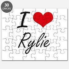 I Love Rylie artistic design Puzzle