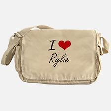I Love Rylie artistic design Messenger Bag