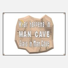 Happens In Man Cave Stays Banner