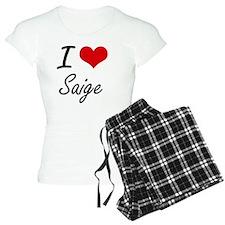 I Love Saige artistic desig Pajamas