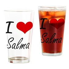 I Love Salma artistic design Drinking Glass