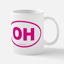 Ohio OH Euro Oval Mug