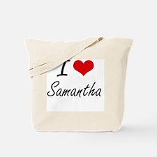 I Love Samantha artistic design Tote Bag