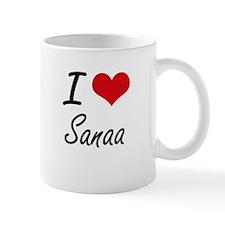 I Love Sanaa artistic design Mugs