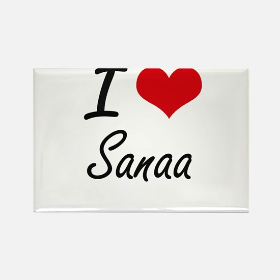 I Love Sanaa artistic design Magnets