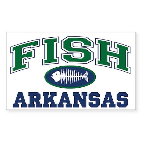 FISH ARKANSAS Rectangle Sticker
