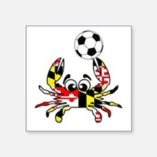 "Funny Maryland flag crab Square Sticker 3"" x 3"""