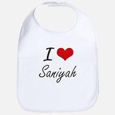 I Love Saniyah artistic design Bib