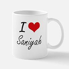 I Love Saniyah artistic design Mugs