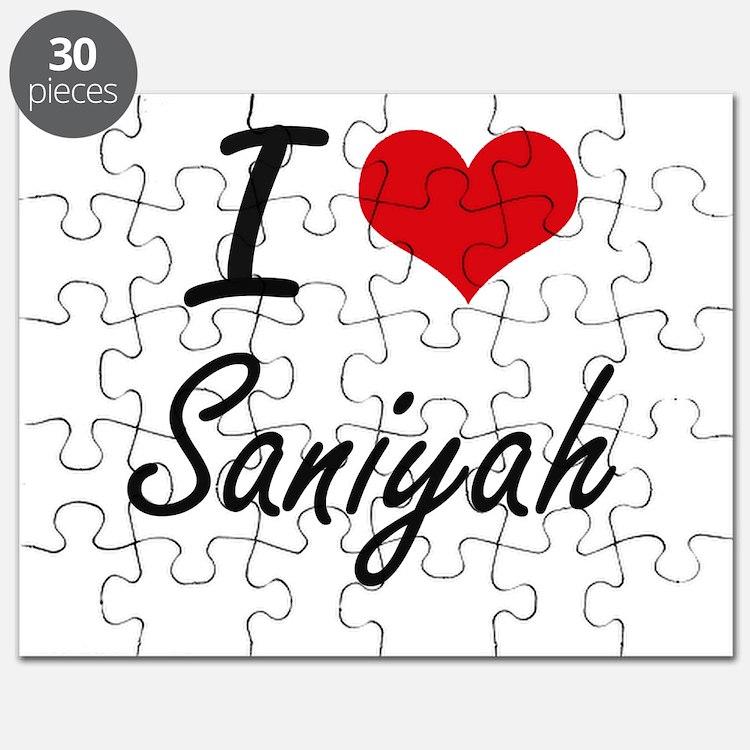 I Love Saniyah artistic design Puzzle
