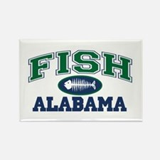 Fish Alabama Rectangle Magnet
