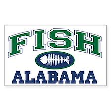 Fish Alabama Rectangle Decal