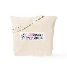 Soccer Everywhere Tote Bag
