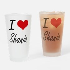 I Love Shania artistic design Drinking Glass