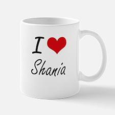 I Love Shania artistic design Mugs