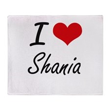 I Love Shania artistic design Throw Blanket