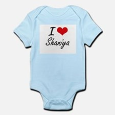 I Love Shaniya artistic design Body Suit