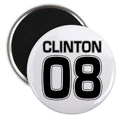 Clinton 08 campaign fridge magnet