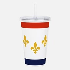 New Orleans Flag Acrylic Double-wall Tumbler