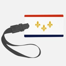 New Orleans Flag Luggage Tag