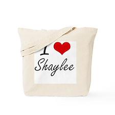 I Love Shaylee artistic design Tote Bag