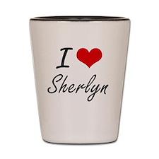 I Love Sherlyn artistic design Shot Glass