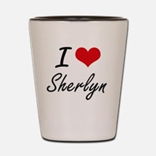I Love Sherlyn artistic design Shot Glass