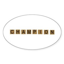 Tiled Champion Oval Decal