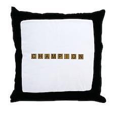 Tiled Champion Throw Pillow
