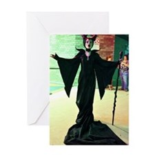 Maleficent Cosplay Greeting Card