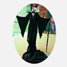Maleficent Cosplay Oval Ornament