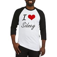 I Love Sidney artistic design Baseball Jersey