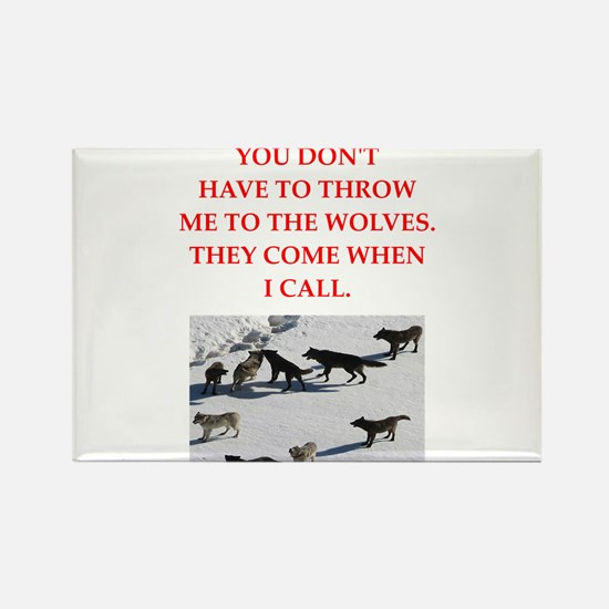 thrpwn to the wolves Magnets