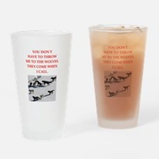thrpwn to the wolves Drinking Glass